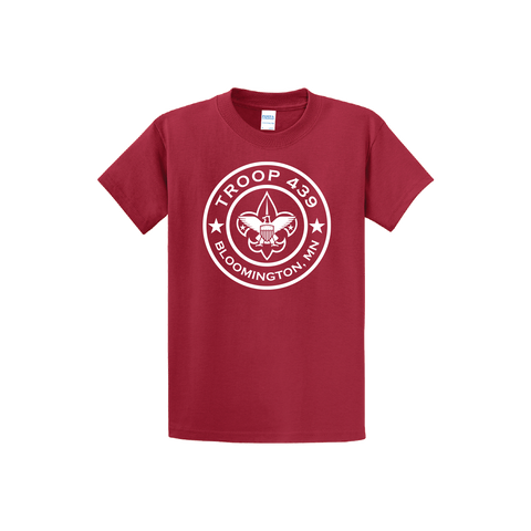 Troop 439 - Red Short Sleeve Tee (Pre-Order 1190)