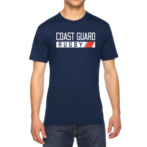 Coast Guard Rugby Men's/Unisex T-Shirt, Navy (STOCK)