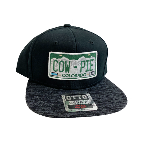 CowPie License Plate Trucker Cap - Black/Charcoal