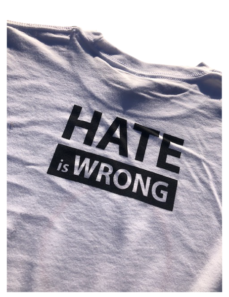Hate is Wrong Graphic T-Shirt - White (Esera)