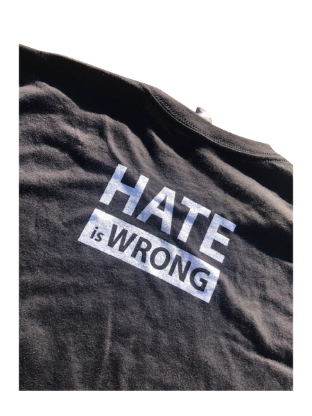 Hate is Wrong Graphic T-Shirt - Black (Esera)