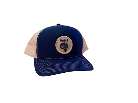 LA Rams Patch Trucker Cap - Royal/White