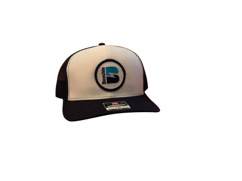 Booshie Patch Trucker Cap - White/Navy