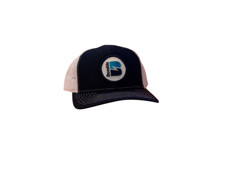 Booshie Patch Trucker Cap - Navy/White