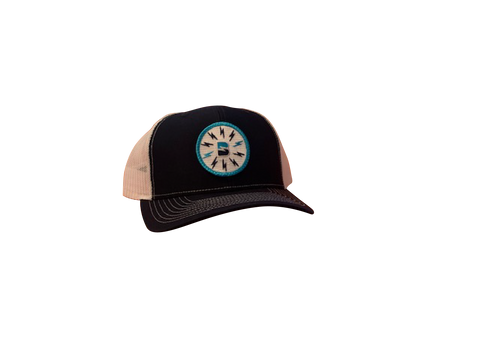 Booshie Bolts Patch Trucker Cap - Navy/White