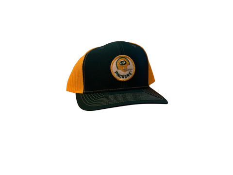 Green Bay Packers Patch Trucker Cap - Forest/Gold