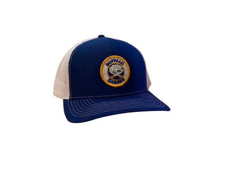 Buffalo Sabres Patch Trucker Cap - Royal/White