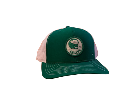 Philadelphia Eagles Patch Trucker Cap - Kelly/White