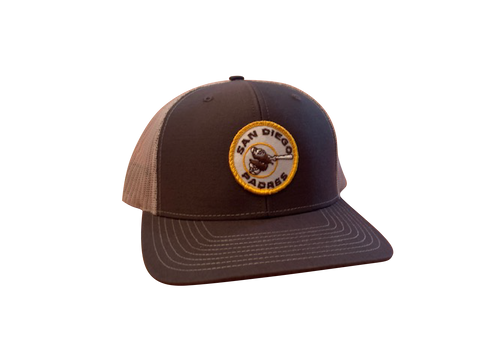 San Diego Padres Patch Trucker Cap - Brown/Tan
