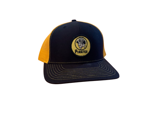 Pittsburgh Pirates Patch Trucker Cap - Black/Gold
