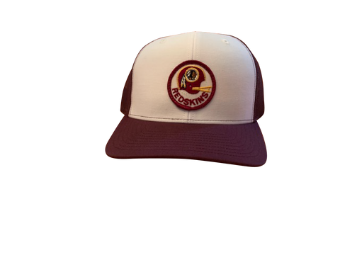 Washington Football Team (Redskins) Patch Trucker Cap - White/Maroon