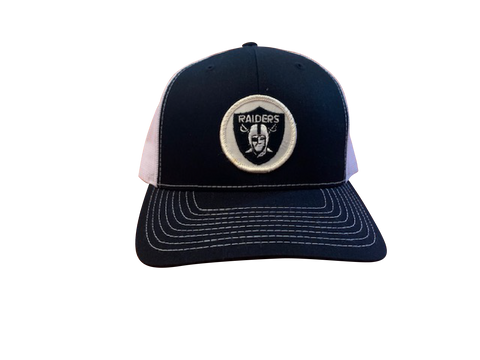 Las Vegas (Oakland) Raiders Patch Trucker Cap - Black/White
