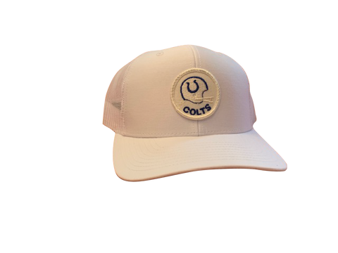 Indianapolis (Baltimore) Colts Patch Trucker Cap - White