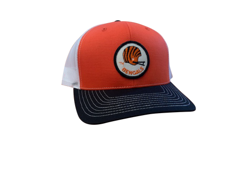 Cincinnati Bengals Patch Trucker Cap -Orange/Black/White
