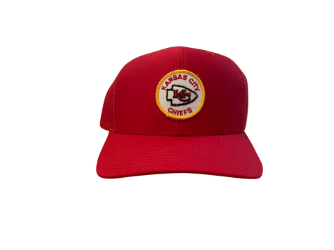 Kansas City Chiefs Patch Trucker Cap - Red