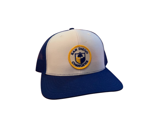 San Diego (LA) Chargers Patch Trucker Cap - White/Royal
