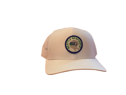 Seattle Seahawks Patch Trucker Cap - White