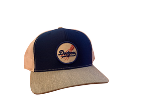 Los Angeles Dodgers Patch Trucker Cap - Royal/Heather/White