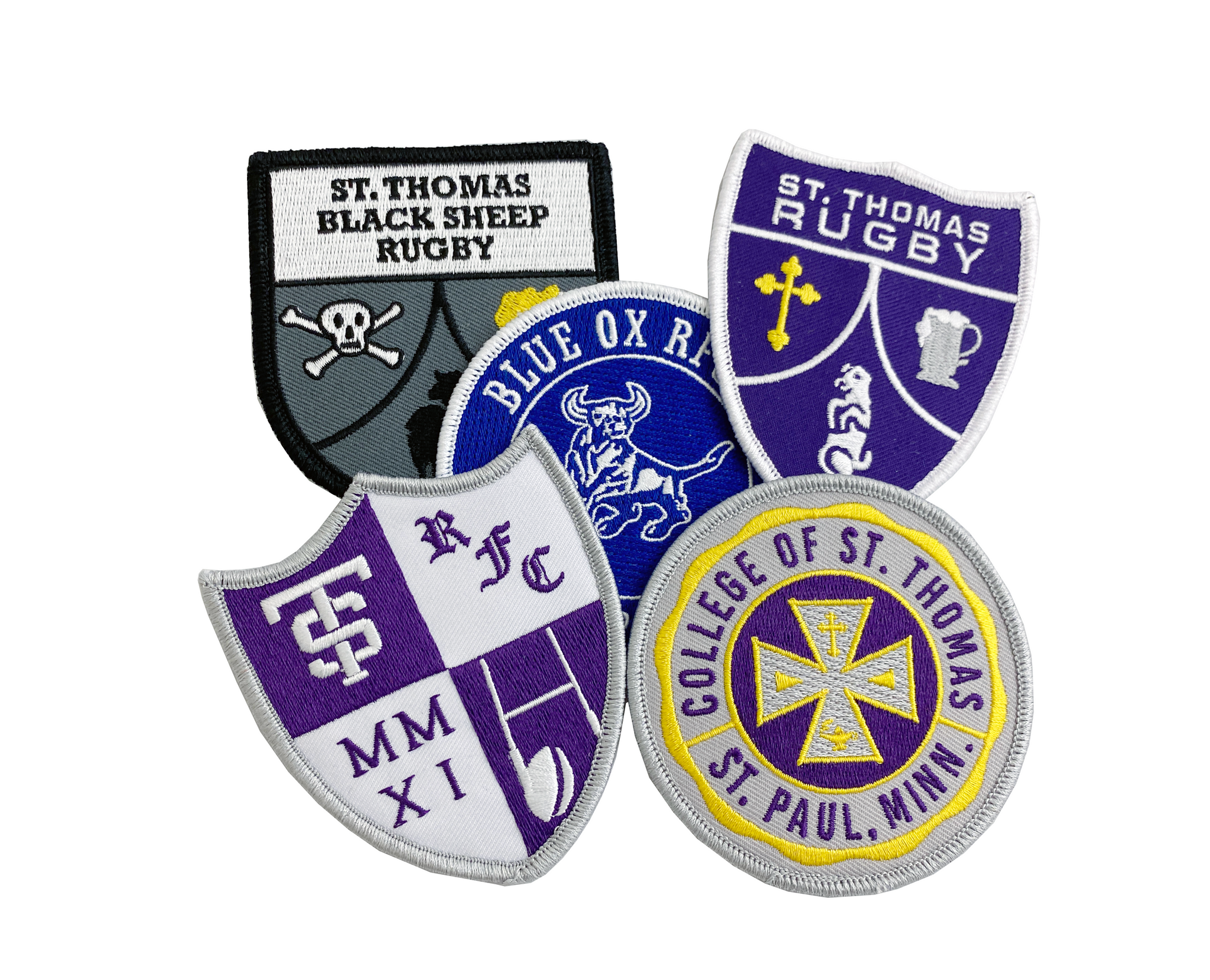 St. Thomas Rugby Patch - 5 Pack