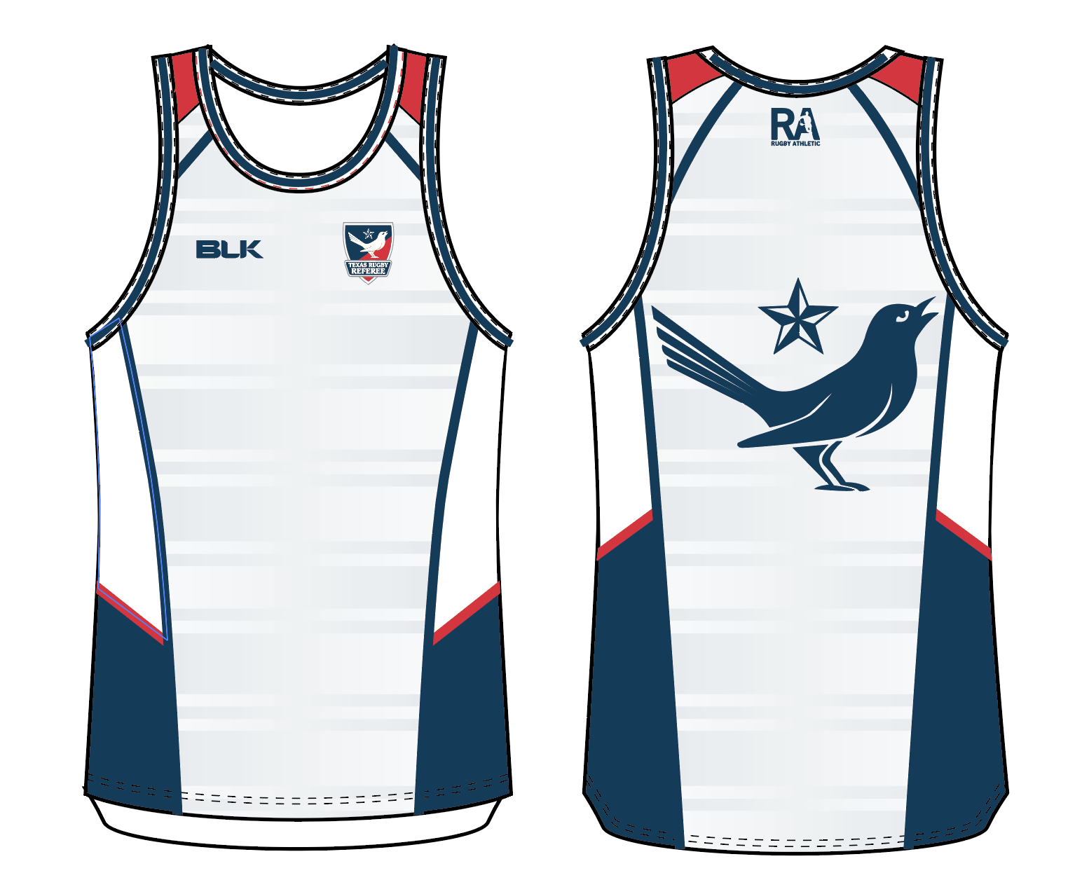 Texas Rugby Referee Training Singlet
