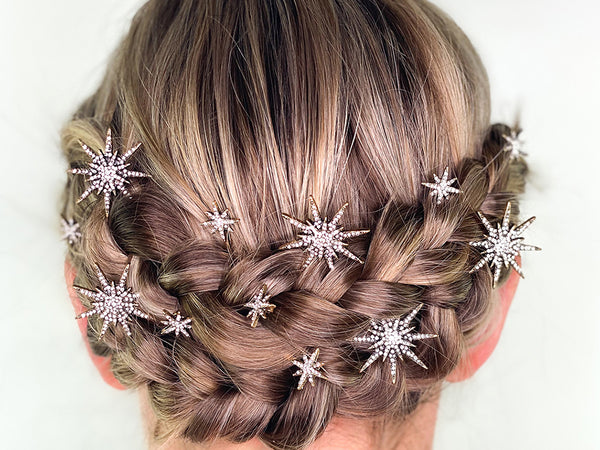 Boho Crown Braid with Stars - How To Wear Hair Clips - BEAU MANE