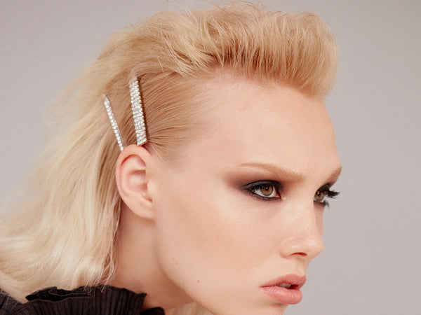Edgy Glam Hairstyle - How To Wear Hair Clips - BEAU MANE