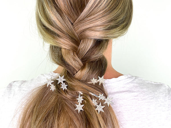 Loose Plait Hairstyle with Star Clips - How To Wear Hair Clips - BEAU MANE