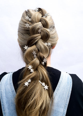 Reverse Braid Hairstyle - How To Wear Hair Clips - BEAU MANE
