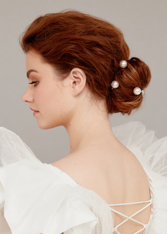 Textured Bridal Bun Hairstyle - How To Wear Hair Clips - BEAU MANE