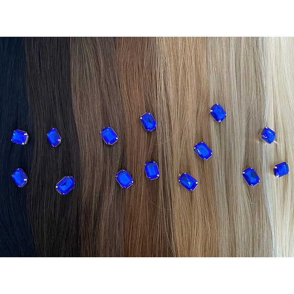 Hair Colour Chart - Blue Rhinestone Hair Clip - Hair Accessories Australia - BEAU MANE