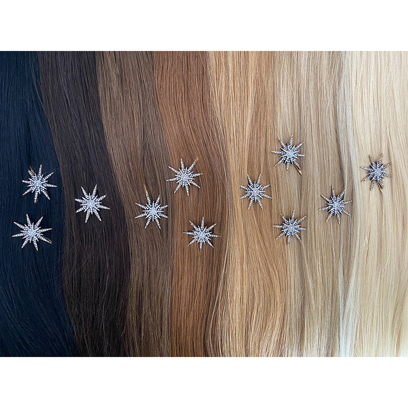 Hair Colour Chart - Large Boho Star Hair Clip - Hair Clips Australia - BEAU MANE