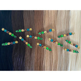 Hair Colour Chart - Mixed Green Rhinestone Hair Clip - Beautiful Hair - BEAU MANE