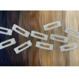 Hair Colour Chart - Rectangle Pearl Snap Clip - Hair Clip Hairstyles - BEAU MANE