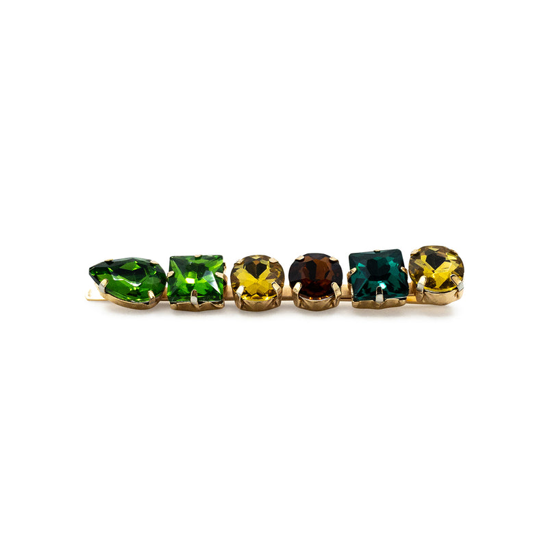 Mixed Green Rhinestone Hair Clip - Hair Accessories Australia