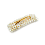 Rectangle Pearl Snap Clip - Hair Accessories Australia - BEAU MANE