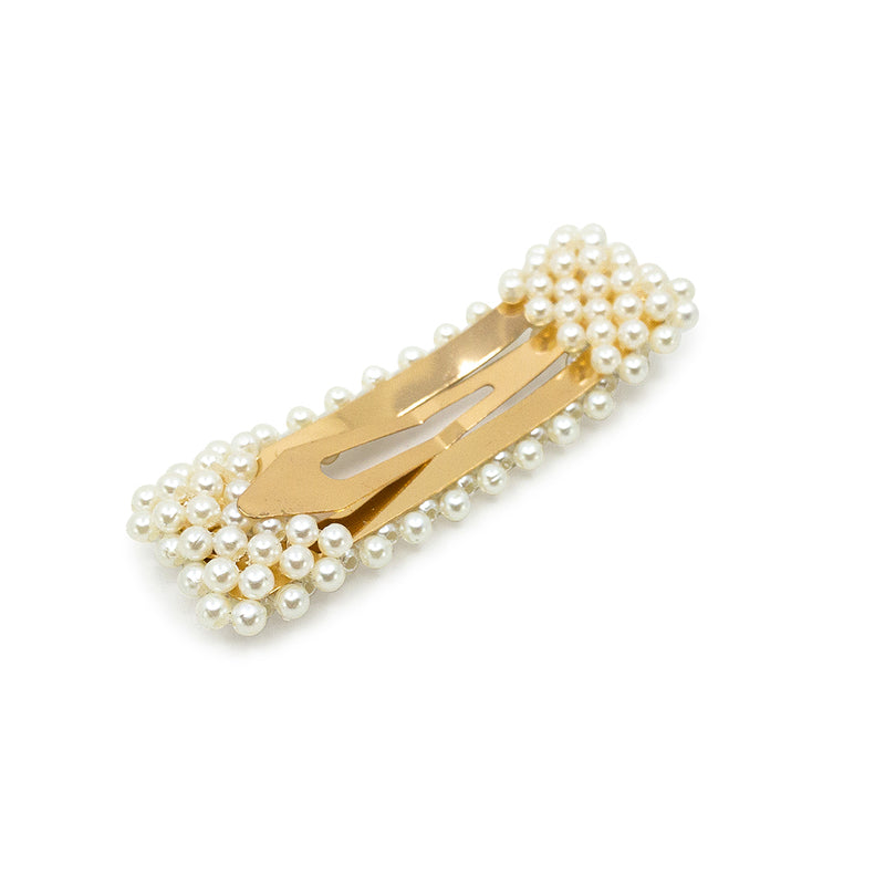 Rectangle Pearl Snap Clip - Hair Clips Australia - BEAU MANE