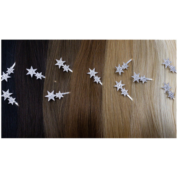 Hair Colour Chart - Silver Star Hair Clip - Hair Accessories Australia - BEAU MANE