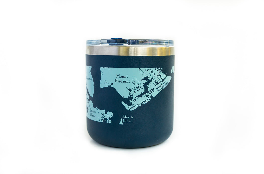 Navy Blue Wine Rocks Tumbler