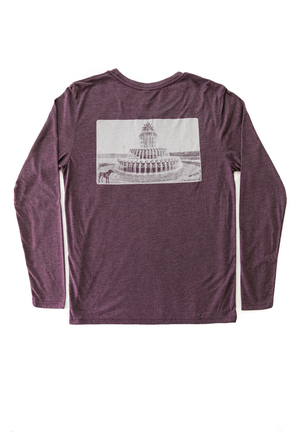 Charleston-Pineapple Fountain Long Sleeve T-shirt