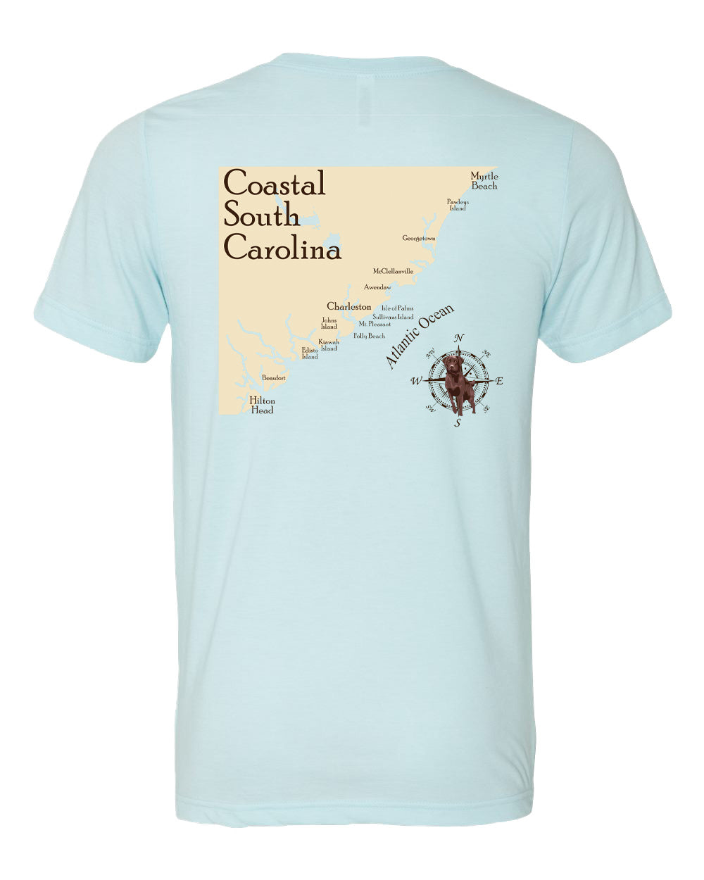 South Carolina Coastline Short Sleeve T-shirt