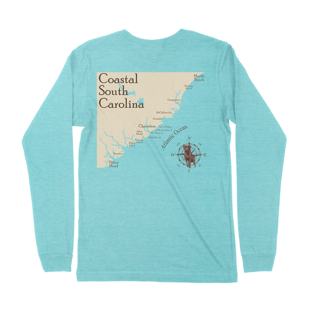 South Carolina Coastline Long Sleeve T-shirt