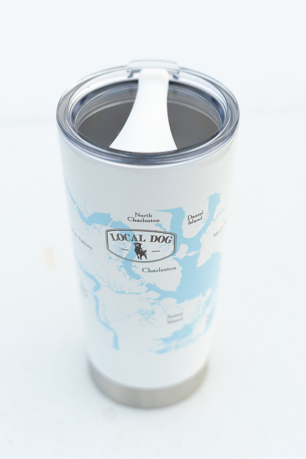 White Stainless Steel Tumbler