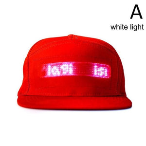 Bluetooth LED Hat Programmable Scrolling Message Display Board Baseball Cap Hip Hop Party Parade Golf Fishing Cap High Quality