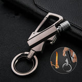 Honest Carabiner Permanent Match Lighter Striker Waterproof Outdoor Survival Tool Keychain Flint Fire Starter Petrol Camping