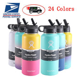 hydro flask 18oz/32oz/40oz Tumbler Flask Vacuum Insulated Flask Stainless Steel Water Bottle Wide Mouth Outdoors Sports Bottle