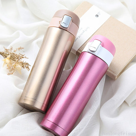 Transhome Thermos Mug 450ml Coffee Thermos Mug Cup Stainless Steel Vacuum Water Bottle Thermos Bottle For Coffee Thermo Cup