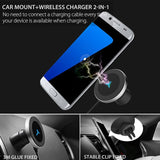 10W 360 Degree Rotation Car Wireless Charger For iPhone Xs Max X Samsung S10 S9 Suntaiho Qi Wirless Charging Magnetic Car Holder