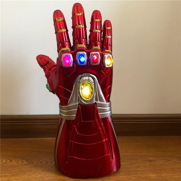 Thanos  Gauntlet War Gloves 1: 1 LED Light  Cosplay Halloween Costume Props  Endgame 4 Quantum