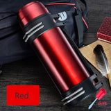 High capacity Stainless steel thermos Fashion everyday, outdoor,automotive water thermo cup Portable insulation Vacuum cup 3L/2L