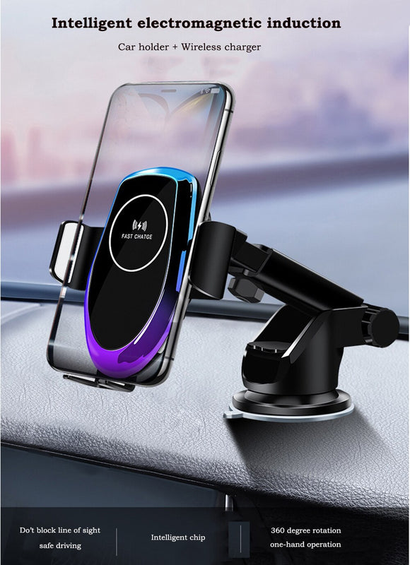 Qi Fast Wireless Charger Car 15W phone Holder forIphone 11pro 11 XS XR X forHuawei Mate30Pro P30pro